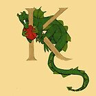 """Oscar and the Roses """"K - Tail"""" (Illustrated Alphabet) by Donna Huntriss"""
