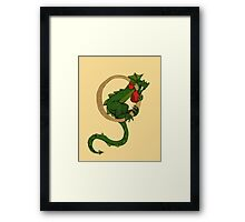 "Oscar and the Roses ""O"" (Illustrated Alphabet) Framed Print"