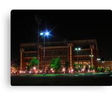 Oklahoma memorial stadium at night Canvas Print