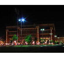 Oklahoma memorial stadium at night Photographic Print