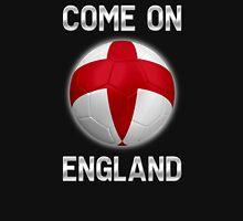 Come On England - English Flag - Football or Soccer Ball & Text 2 Unisex T-Shirt
