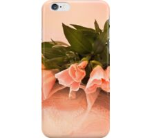 Peach Godetia's And Lace  iPhone Case/Skin