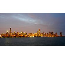Chicago Illinois skyline in the evening Photographic Print
