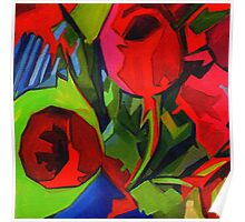 More Red Tulips  Poster
