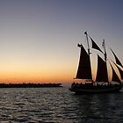 Sailboat at sunset in Key West by mbuban