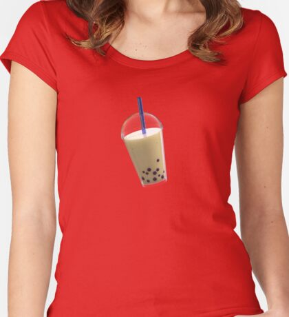 Bubble Tea - 珍珠奶茶 Women's Fitted Scoop T-Shirt