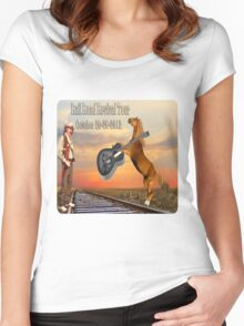 MY DESIGN~~   2012 RAILROAD REVIVAL TOUR T-SHIRT  Women's Fitted Scoop T-Shirt