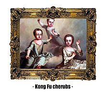 Kong Fu cherubs Photographic Print