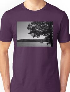 Boating along the sunny Mystic River Unisex T-Shirt