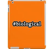 Biological - Hashtag - Black & White iPad Case/Skin