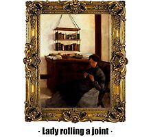 Lady rolling a joint by ayay