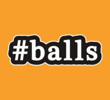 Balls - Hashtag - Black & White by graphix