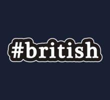 British - Hashtag - Black & White Kids Tee
