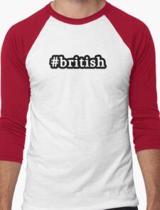 British - Hashtag - Black & White Men's Baseball ¾ T-Shirt