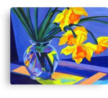 Daffodil Geometry Canvas Print