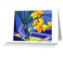 Daffodil Geometry Greeting Card
