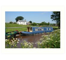 Brecon canal, Wales Art Print