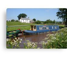 Brecon canal, Wales Canvas Print