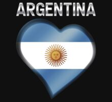 Argentina - Argentine Flag Heart & Text - Metallic by graphix