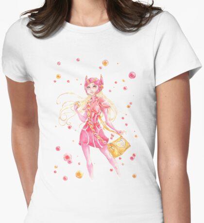 Honey Lemon Watercolor (No BG) Womens Fitted T-Shirt