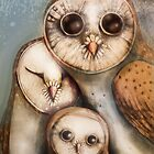 three wise owls by © Karin (Cassidy) Taylor