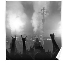 Devil Horns in Mono Poster