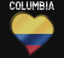 Columbia - Columbian Flag Heart & Text - Metallic by graphix