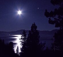 Lake Tahoe at Night by Kristy Robb
