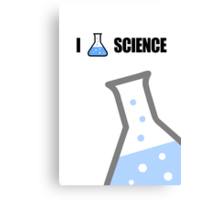 I Love Science Canvas Print