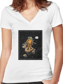 Astrozombie Women's Fitted V-Neck T-Shirt