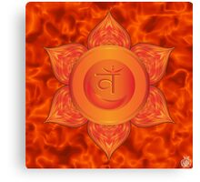 Sacral Chakra with orange flare BG Canvas Print