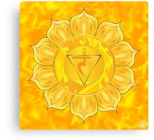 Solar Plexus Chakra  with yellow flare BG Canvas Print