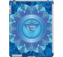 Throat Chakra with sky blue flare BG iPad Case/Skin