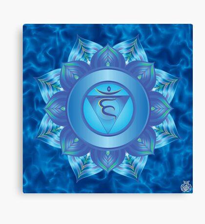 Throat Chakra with sky blue flare BG Canvas Print