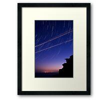 Startrails and Human Journeys Framed Print