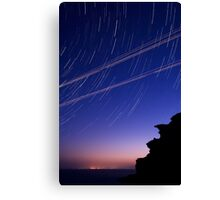 Startrails and Human Journeys Canvas Print