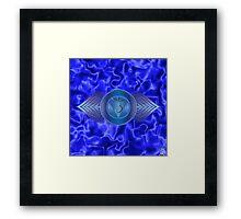Third Eye Chakra with indigo flare BG Framed Print