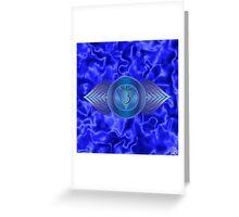 Third Eye Chakra with indigo flare BG Greeting Card