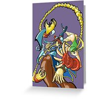 Street Fighter - Cammy and Chun Li Greeting Card