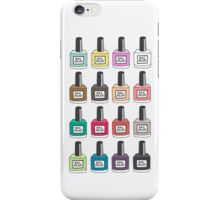 Nail Polish collection iPhone Case/Skin