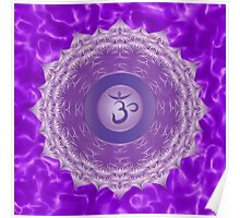 Crown Chakra with violet flare BG Poster