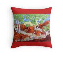 Devils Marbles Northern Territory , Noon Throw Pillow