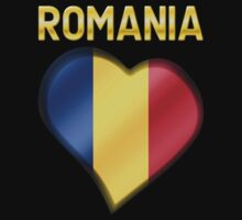 Romania - Romanian Flag Heart & Text - Metallic by graphix
