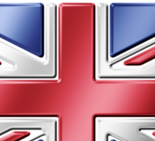 United Kingdom - British Flag & Text - Metallic Sticker