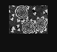 Roses in Black and White, Tattoo-style Unisex T-Shirt