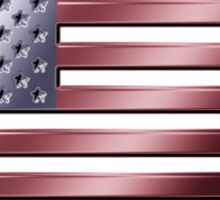 American Flag - USA - Metallic Sticker