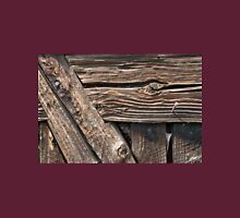 Aged textured wood background Unisex T-Shirt