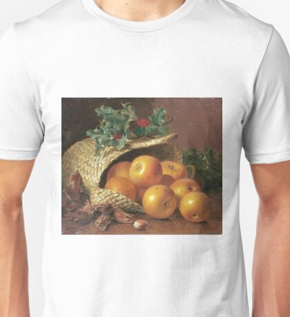 Eloise Harriet Stannard - Still Life With Apples, Hazelnuts And Holly Unisex T-Shirt