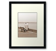 ChitChat - Kuwaiti men in traditional clothes Framed Print