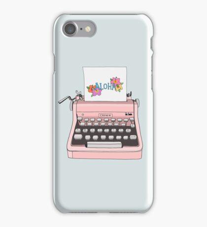 Aloha Typewriter iPhone Case/Skin